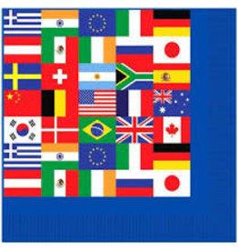 Beistle International Flag Lunch Napkins - 16ct.