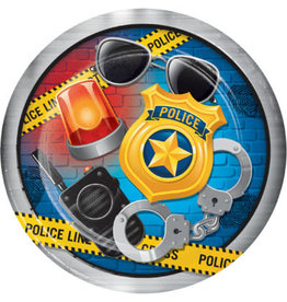 """creative converting Police Party 9"""" Plates - 8ct."""