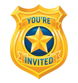 creative converting Police Party Invites - 8ct.