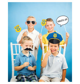 creative converting Police Party Photo Booth Props - 10ct.