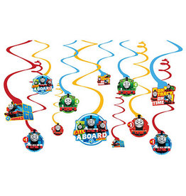 Amscan Thomas All Aboard Swirl Decorations - 12ct.