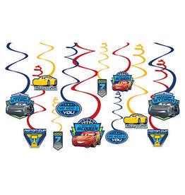 Amscan Cars 3 Swirl Decorations - 12ct.