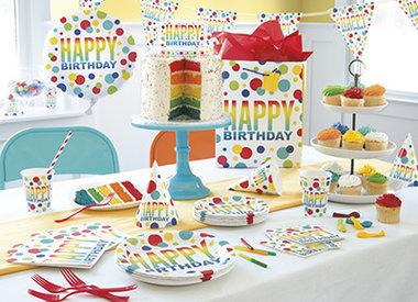 Rainbow Spots Birthday