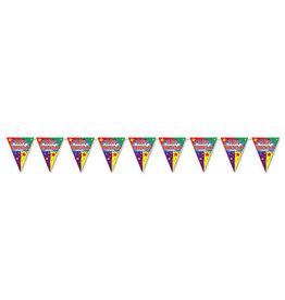 Beistle Happy Birthday Pennant Banner - 12ft.