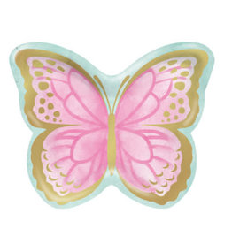 """creative converting Butterfly 9"""" Shaped Plates - 8ct."""