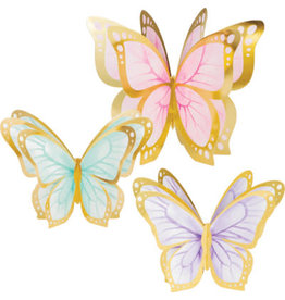 creative converting Butterfly 3-D Centerpieces - 3ct.