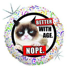 """mayflower 18"""" Grumpy Cat/Better w/ Age"""