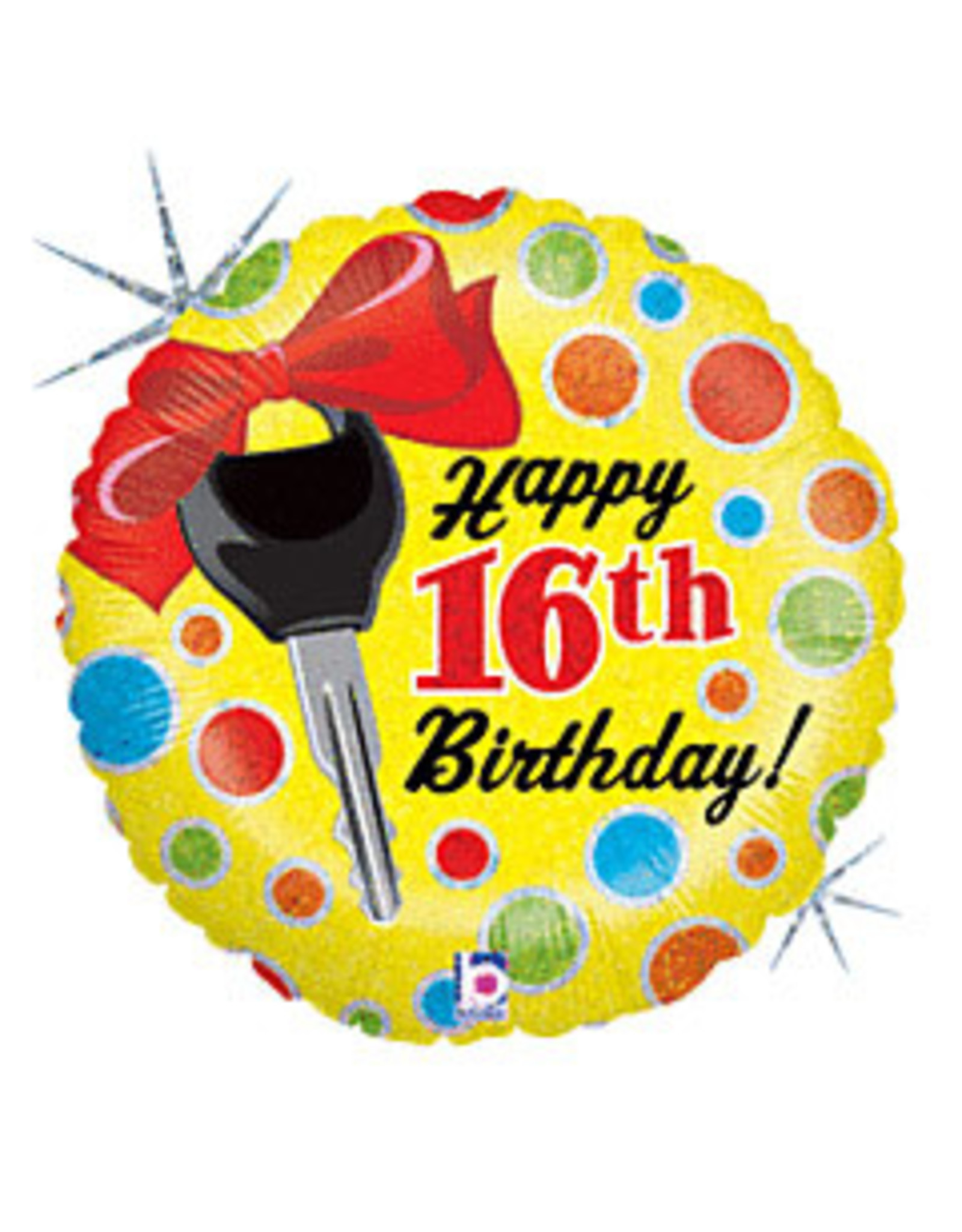 "mayflower 18"" 16th Birthday Car Key Mylar"