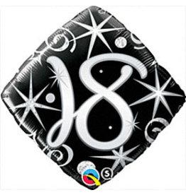 """mayflower 18"""" Elegant Sparkle 18th Birthday Mylar"""