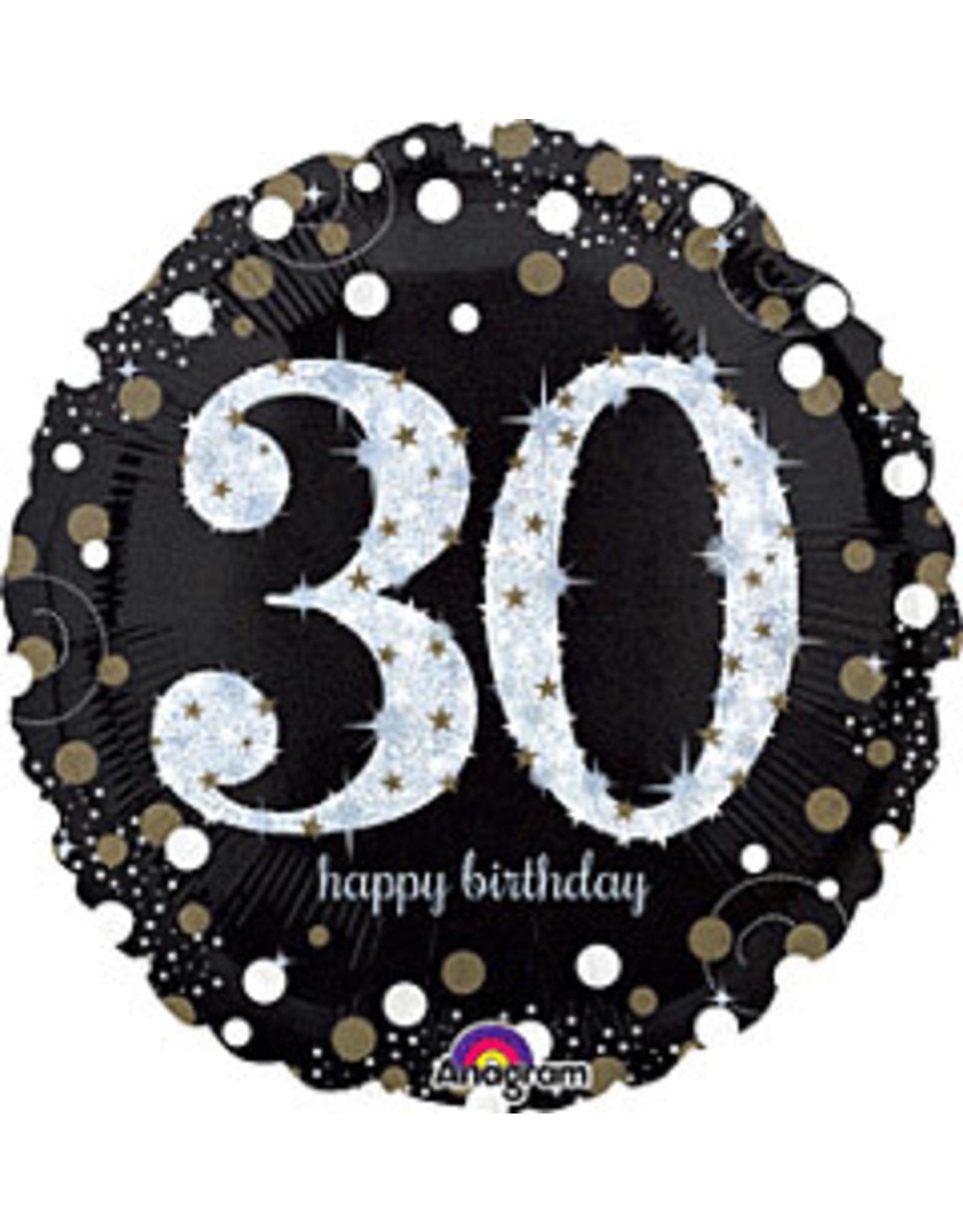 "A to Z 18"" Sparkling 30th Birthday Mylar"