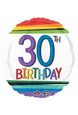 """A to Z 18"""" Rainbow 30th Birthday  Mylar"""
