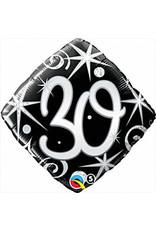 """mayflower 18"""" Elegant Sparkle 30th Birthday Mylar"""