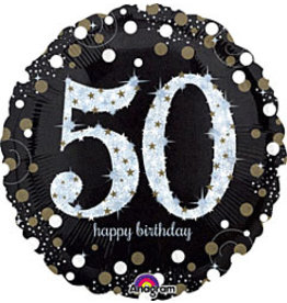 "A to Z 18"" Sparkling 50th Birthday Mylar"
