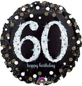"A to Z 18"" Sparkling 60th Birthday Mylar"