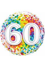 """mayflower 18"""" Rainbow 60th Confetti Birthday Mylar"""