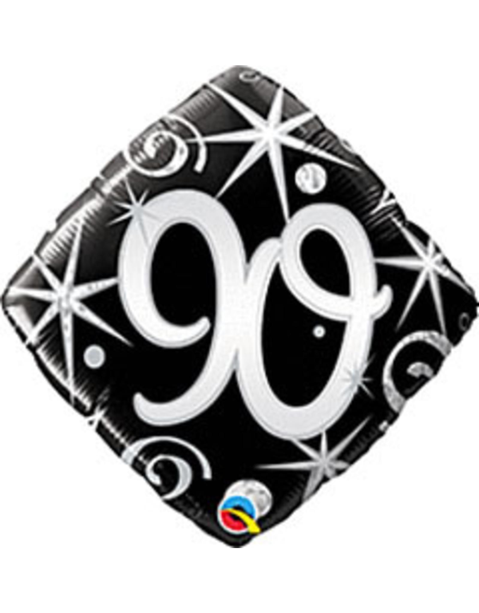 """mayflower 18"""" Elegant Sparkles 90th Birthday Mylar"""
