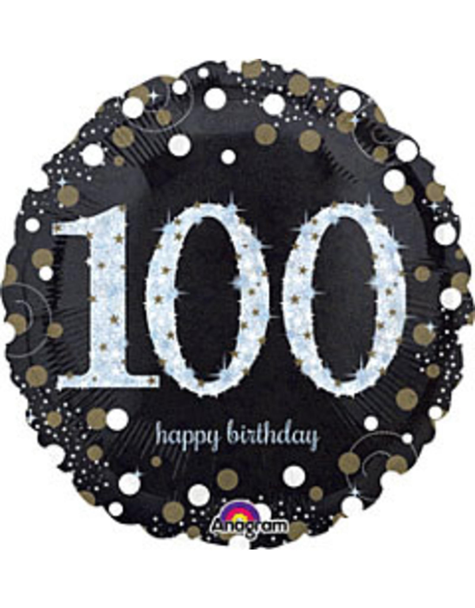 "A to Z 18"" Sparkling 100th Birthday Mylar"