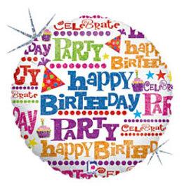 mayflower 18'' Holographic Birthday Gift Wrap Mylar