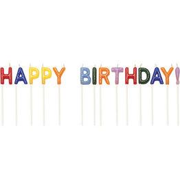 "creative converting Happy Birthday  2.5"" Pick Candles - 14ct."