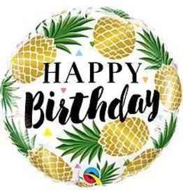 "mayflower 18"" Golden Pineapple Birthday Mylar"