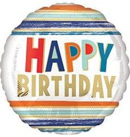 """mayflower 18"""" Letters & Stripes Birthday Mylar"""