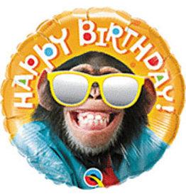 mayflower 18' Smiling Chimp Birthday Mylar