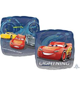 """mayflower 18"""" Cars Lightning Mcqueen (2-sided) Mylar"""