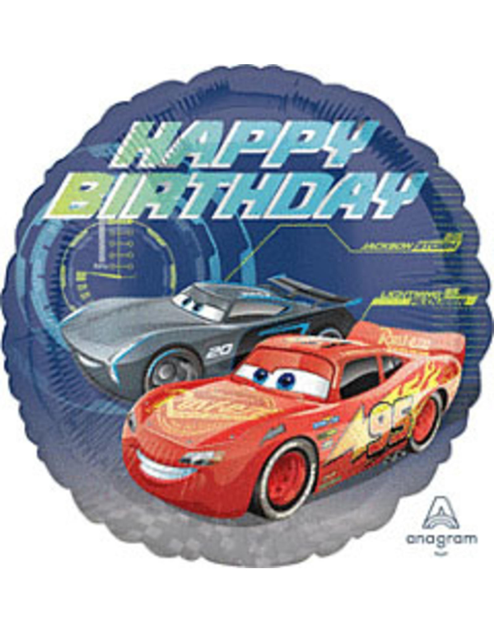 """mayflower 18"""" Cars Birthday Mylar"""