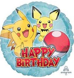 """mayflower 18"""" Pokeman Birthday Mylar"""