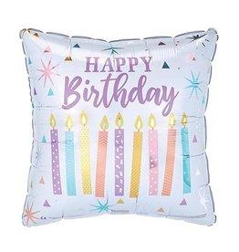 """Burton + Burton 18"""" Birthday Candles Mylar"""