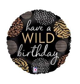 "Burton + Burton 18"" Wild Birthday Mylar"