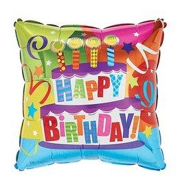 "Burton + Burton 18"" Birthday Cake Mylar"