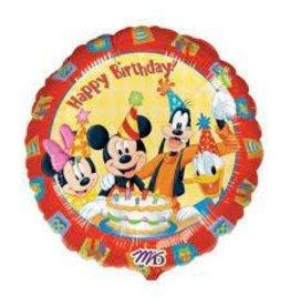 """A to Z 18"""" Mickey & Friends Birthday Mylar"""