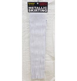 """party deco White 29"""" Metallic Table Skirting - 14'"""