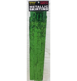 "party deco Green 29"" Metallic Skirting - 14'"