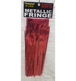 "party deco Red 15"" Metallic Fringe - 10'"