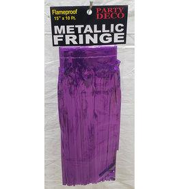 """party deco Purple 15"""" Metallic Fringe - 10'"""
