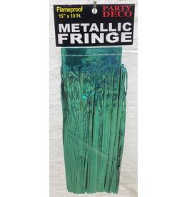 """party deco White 15"""" Metallic Fringe - 10'"""