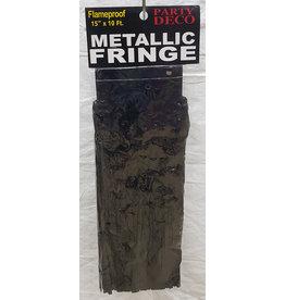 party deco Black 15' Metallic Fringe - 10'