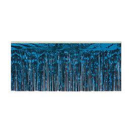 "Beistle Blue 15"" Metallic Fringe - 10'"