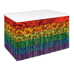 "Beistle Rainbow 30"" Table Skirting - 14'"