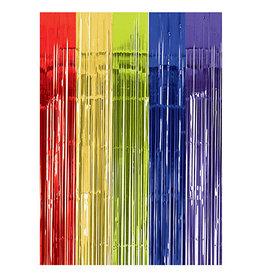 Amscan Multi-Color Metallic Door Curtain - 8ft.