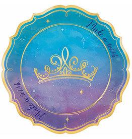 """Amscan Princess 7"""" Shaped Plates - 8ct."""