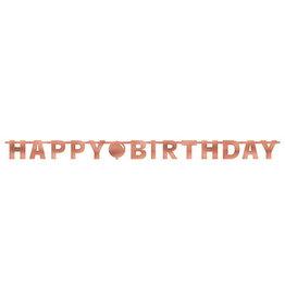 Amscan Blush Birthday Letter Banner - 7ft.