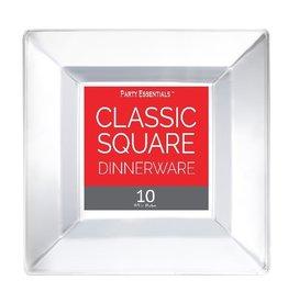 """northwest 9.5"""" Square Plastic Plates - 10ct."""