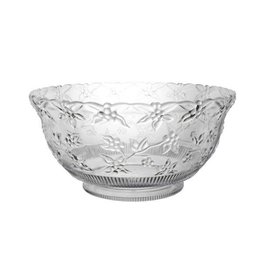 northwest Clear Embossed Punch Bowl - 8qt.