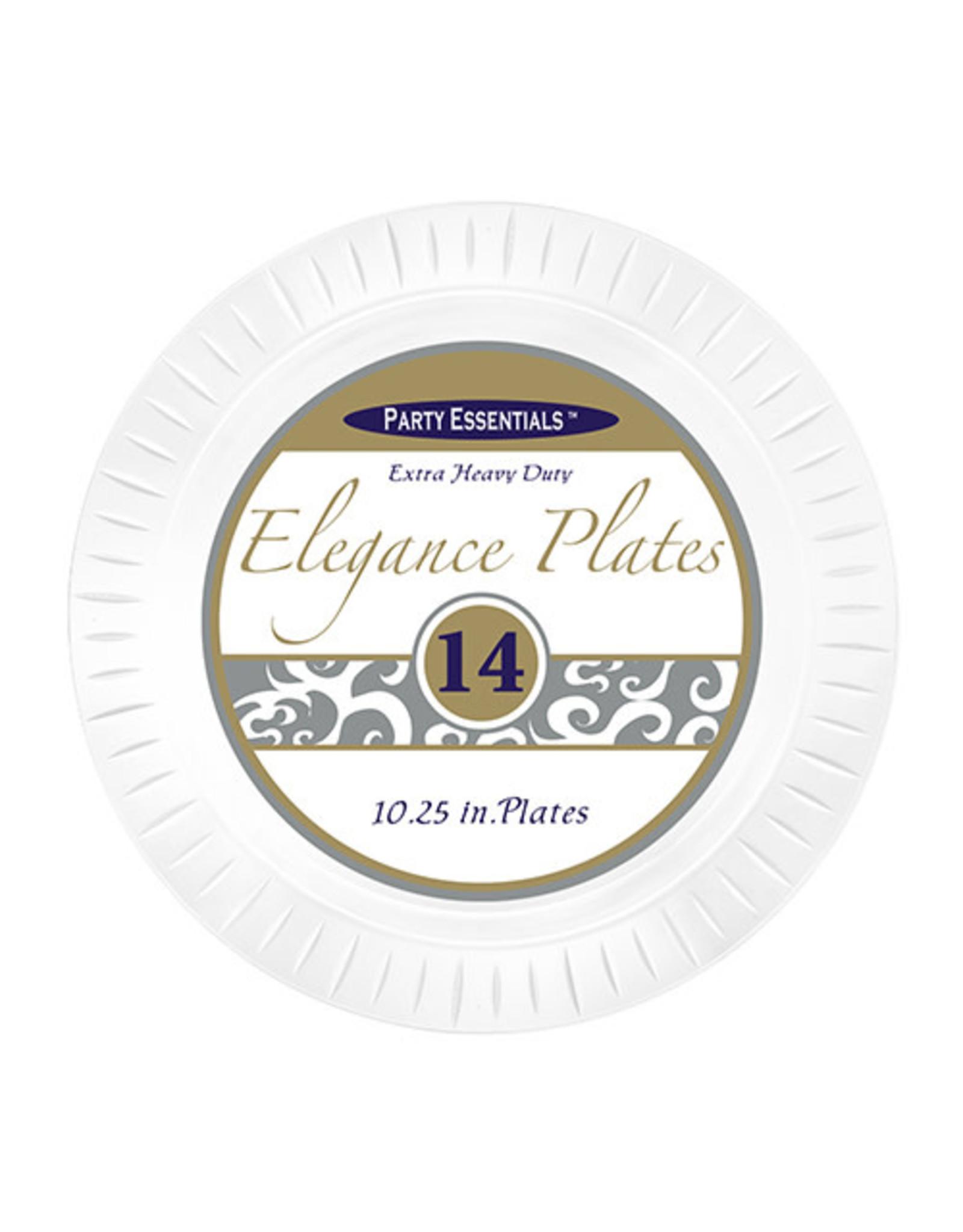 "northwest 10"" Clear Elegance Plates - 14ct."