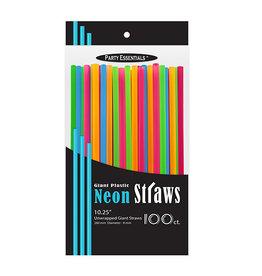 "northwest 10"" Giant Neon Smoothie Straws - 100ct."