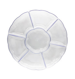 """northwest Clear Scalloped Sectional Tray - 16"""""""