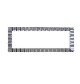 """northwest White w/ Silver Edge Rectangle Tray - 17"""" x 9"""""""